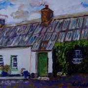 Listed Cottage at Gransha,Islandmagee,(painted with consent from a photo by the Ulster Architectural Heritage Society)