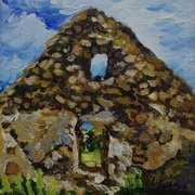 Ruined Cottage Gable,(Interior),Ballymoney,Islandmagee