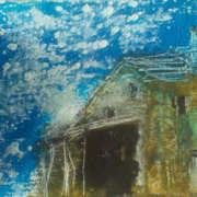 house in Italy, oilbar on canvas