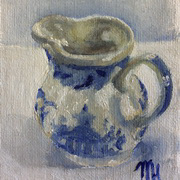 Blue and White Jug 2