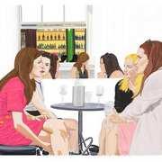 Girls. The Bailey Bar