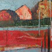 Landscape With Red and Grey