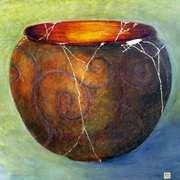 Cauldron of Ceridwen,Beeswax,pigments