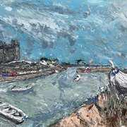 Bullock Harbour,Dalkey,Co Dublin,Acrylic