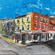 Corner Shop,Dun Laoghaire,Co Dublin,Acrylic,knife