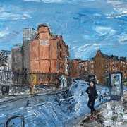 Lincoln Place from Nassau St,Dublin,Acrylic