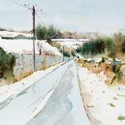 Snow covered Fields Ballybetagh. Co Dublin