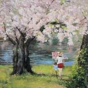 Painting The Cherry Blossom