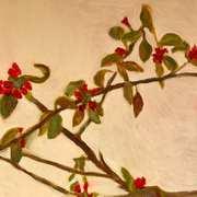Still Life of Quince Branch