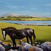 Irish Art, Lazy Days at Lough Murri Newquay Co Clare,