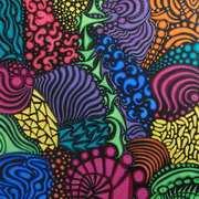 Jelly Bean Doodle, Acrylic, 40