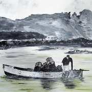 Lobster Fishing off Irelands Eye 1960s