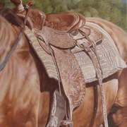 Irish Art, Western Saddle Study,