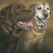 Kia and Holly's Portrait,Acrylic