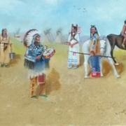Crow indian village circa1860 2
