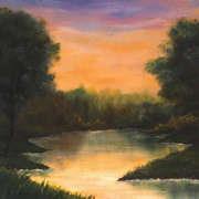 Pastel Lakeside