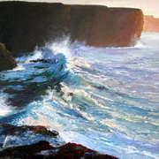 Breakers beneath the cliffs, Kilkee