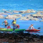 Kayaks at Kilkee